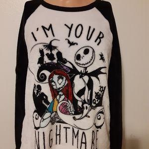 Nightmare before christmas pajama top